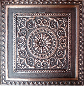 Copper Tile Flower Circle