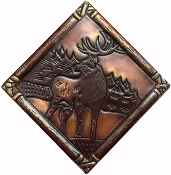 Copper Tile Diamond Elk