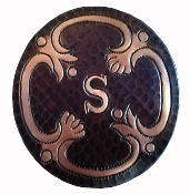 Copper Tile Round With Initial Added