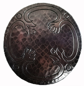 Copper Tile Round With Design
