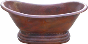 "BT-001 Copper Soaking Bath Tub 36"" Wide 12 Gauge"