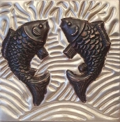 "Copper 4"" Tile Fish"