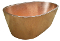 "BT-006 34"" Copper Oval Double Wall Oval Soaking Bath Tub"