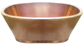 "BT-006 34"" Copper Double Wall Oval Bath Tub 12 Gauge With Rolled Base"
