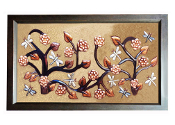 "Copper Murals And Cabinets Panels Dragonfly Garden 23"" L x 16"" H MP-023"