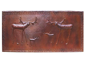 "Copper Murals And Cabinet Panels 82"" x 33"" MP-016 Moose"