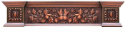 Copper Fireplace Mantel Or Copper Wall Shelf Custom Designed CMF-010 Ribbons