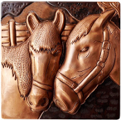"Copper 4"" Tile Horses #1"