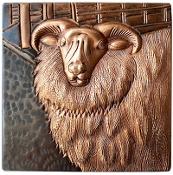"Copper 4"" Tile Goat"